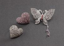 帯留め メタル細工 蝶