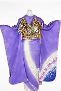 1393 紫系 藤色ラメ入り花丸背面写真