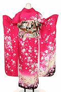 1585 ピンク系 チェリーピンクラメ入りのし目花柄 tt-bジャストユー背面写真
