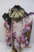 1799 紫系 ラメ入り白紫染め分けアゲハ bijou 背面写真