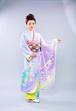 1013 紫系 藤色染め分け花柄 サムネイル