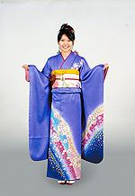 1393 紫系 藤色ラメ入り花丸 サムネイル