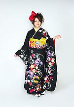 1435 黒系 花丸古典柄 tt-b振袖美術館 サムネイル