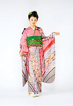 1519 赤系 総絞り花柄 サムネイル