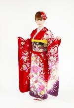 1740 赤系 裾紫、ラメ入り真赤花の饗宴 tt-bジャストユー サムネイル