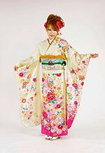 1681 黄系 ラメ入り裾ピンク、手毬、花柄 サムネイル