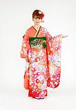 1737 オレンジ系 金彩、白、ピンク、花の競演 tt-bfr312 サムネイル
