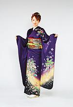 403 紫系 赤紫花柄 サムネイル