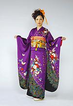 647 紫系 赤紫花柄 サムネイル