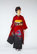 648 赤系 ワインレッドワンポイント花柄 サムネイル