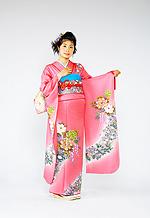 695 ピンク系 濃いピンク花柄 サムネイル